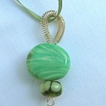 "green ""harvest"" pendant"