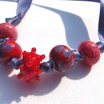 "red ""harvest"" necklace"