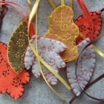 little felt leaves