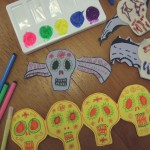 decorated paper skulls