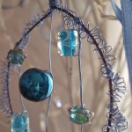 blue bead & wire decorations