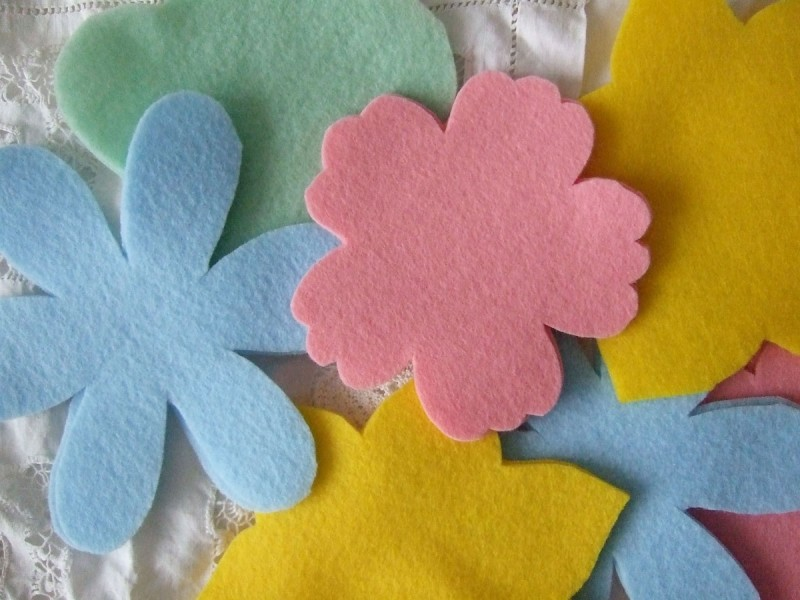 felt flower shapes
