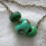 "green ""harvest"" bead necklace"