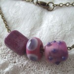 "purple & pink ""harvest"" bead necklace"