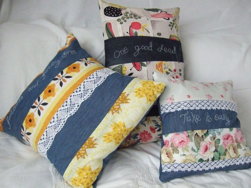 denim cushion covers
