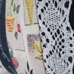 detail of vintage fabric & cotton lace