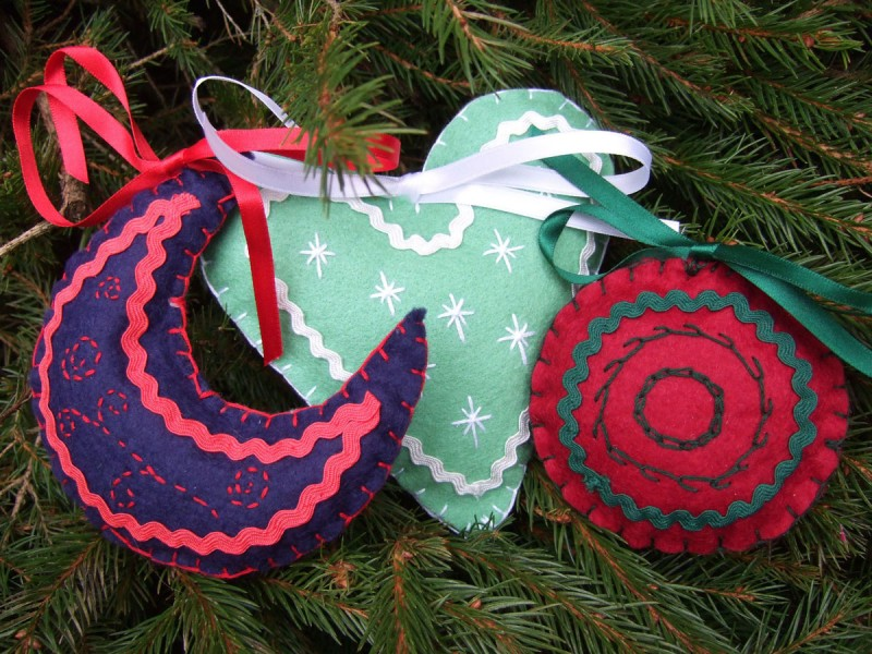 embroidered baubles
