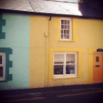 bright painted cottages in Aberdyfi